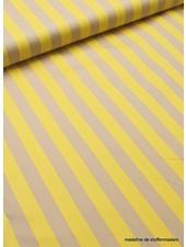 geel beige streep - soepele katoen met een beetje stretch