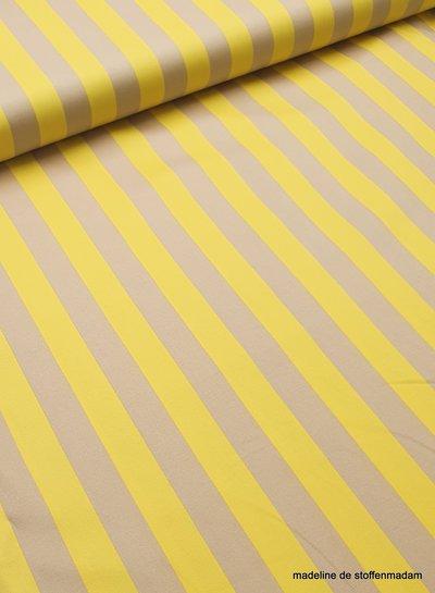 yellow sand stripes - stretch cotton