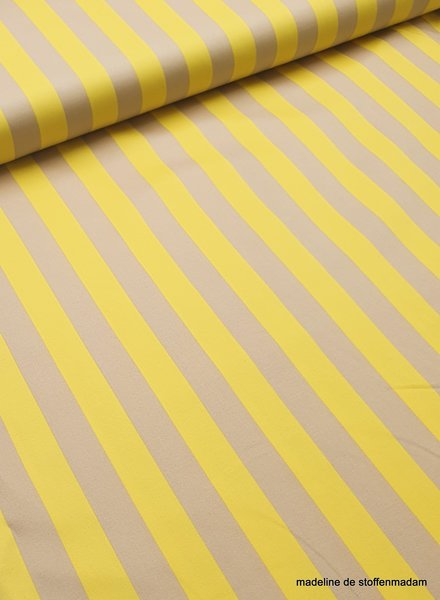 yellow sand stripes - stretch cotton