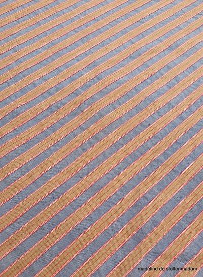 lila stripes - textured cotton