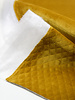 ocre - padded velvet