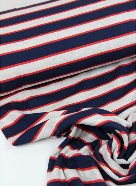 red/blue stripes - french terry