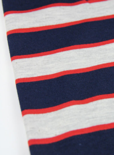 rood/blauw strepen - french terry