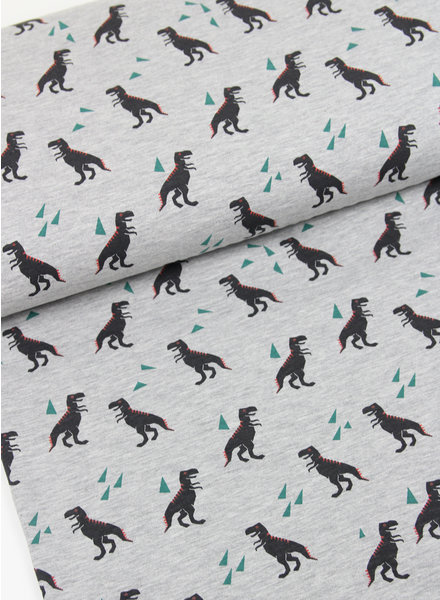 grijs dino - tricot