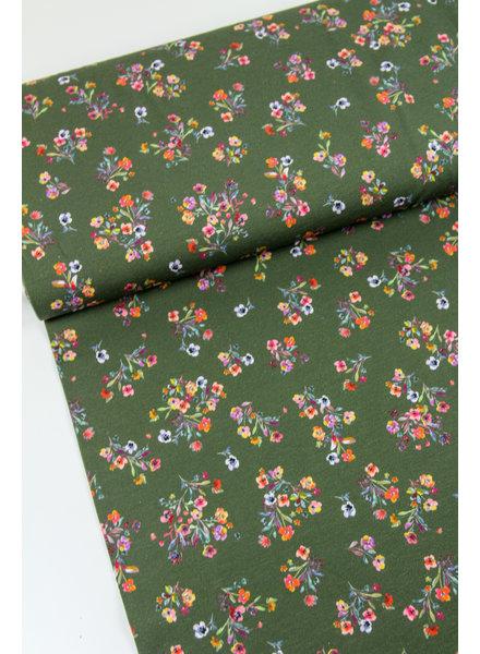 khaki flower bouquets - tricot