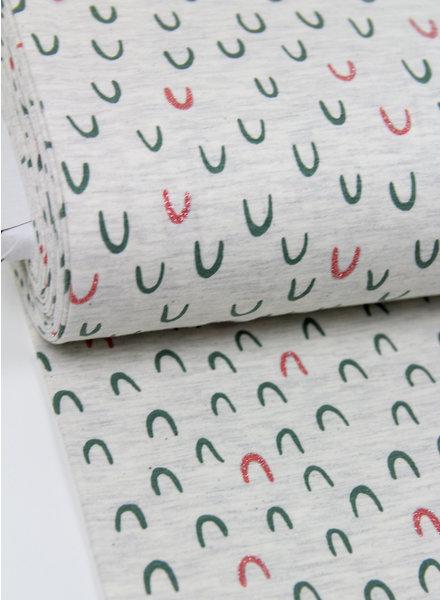 ecru glitter bows - tricot