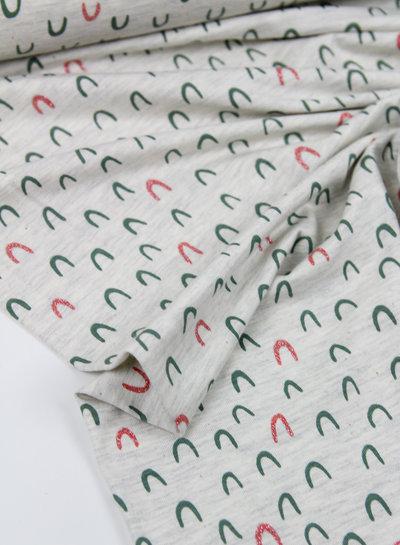 ecru glitter bows - jersey