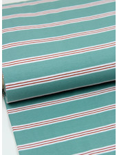 mint stripes - tricot
