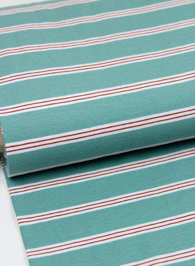 mint stripes - tricot
