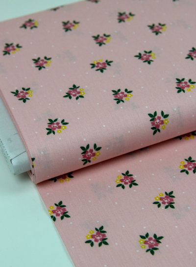 pink flowers - cotton
