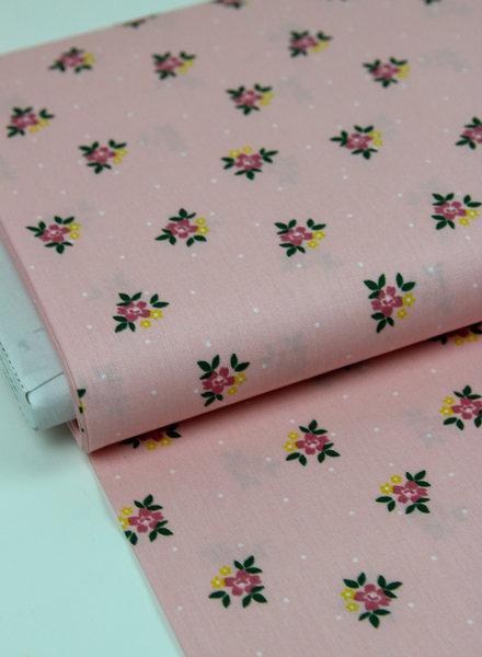 roze bloemen - katoen