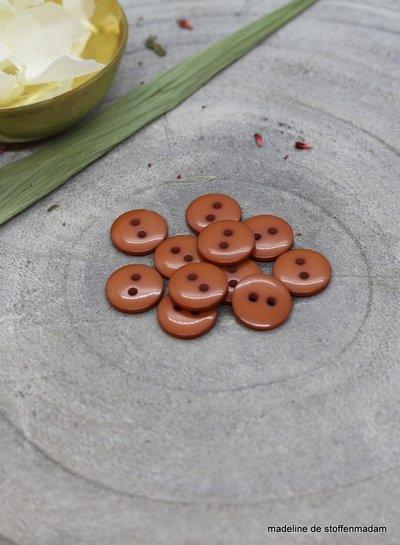 Chestnut classic shine knoop - 10 mm - Atelier Brunette