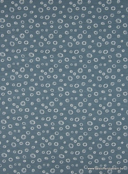 bubbels tricot - blauw
