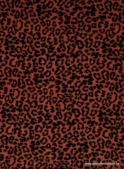 leopard roest - nicky velours - organic