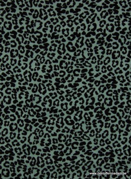 leopard mint - nicky velours - organic