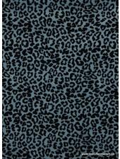 leopard blauw - nicky velours - organic