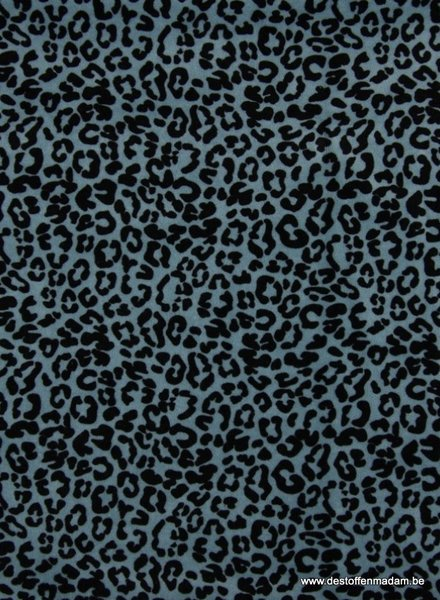 leopard blue - nicky velours - organic