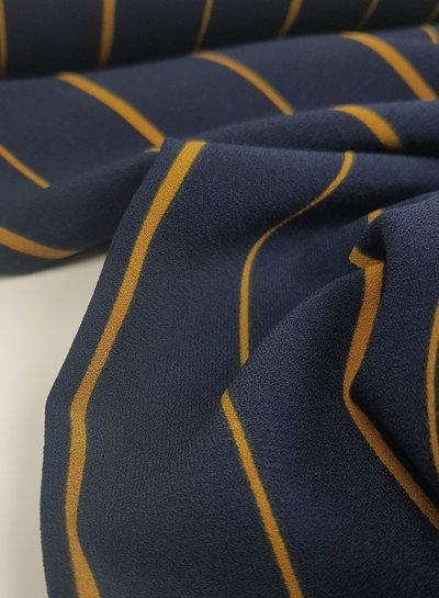Golden stripes - crepe stretch