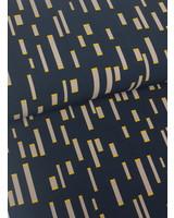 navy blue bricks - crepe deluxe