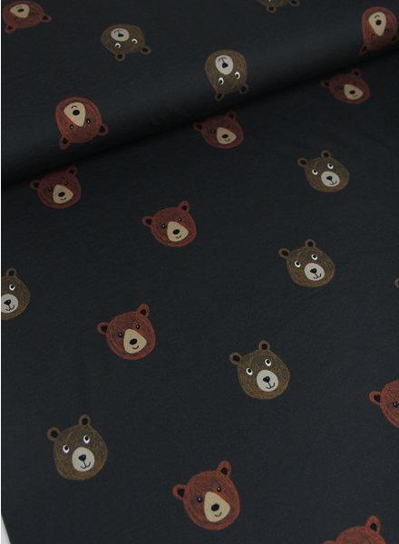 beren - donker grijs - french terry