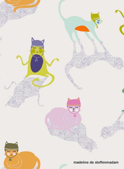 ART GALLERY FABRICS oh meow - katoen