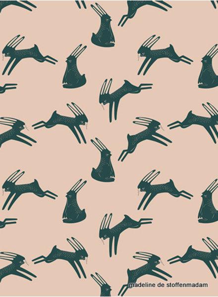 ART GALLERY FABRICS konijntjes - katoen
