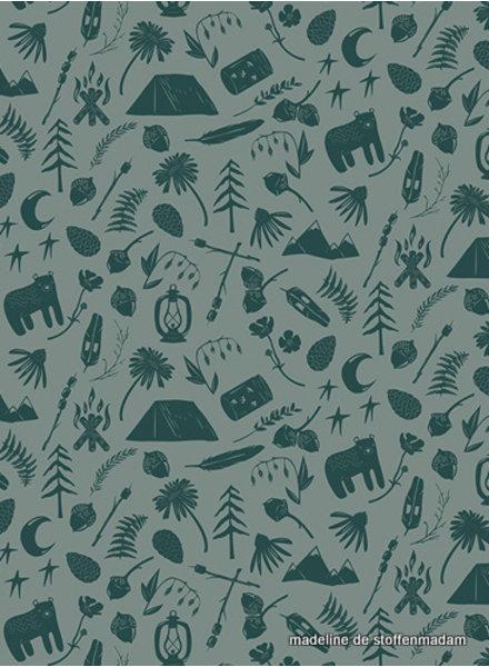 ART GALLERY FABRICS forest - katoen