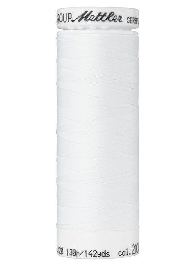 Mettler Seraflex - elastisch garen - wit 2000