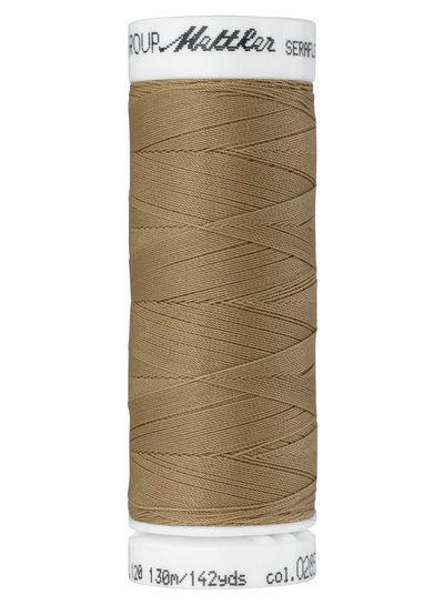 Mettler Seraflex - elastisch garen - donkerbruin 0428