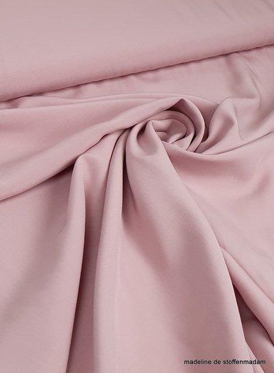 oud roze effen viscose