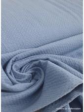 blue textured cotton