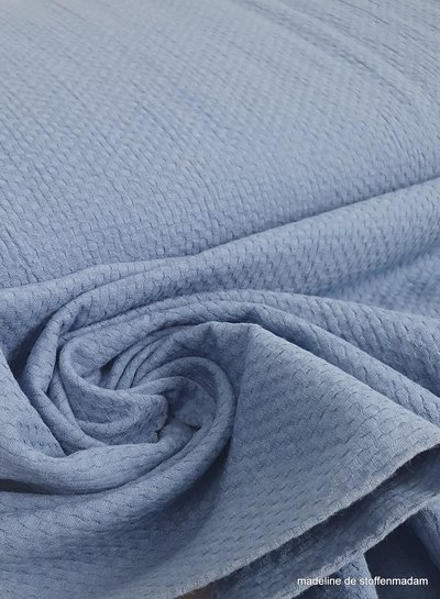 blue textured cotton