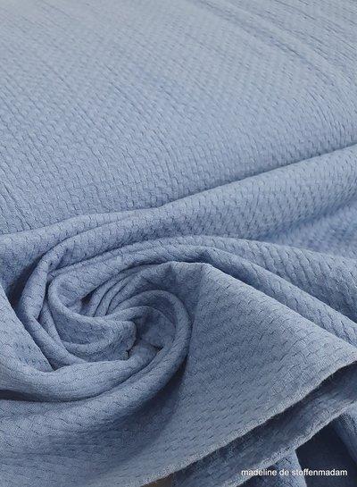 textuur blauw katoen
