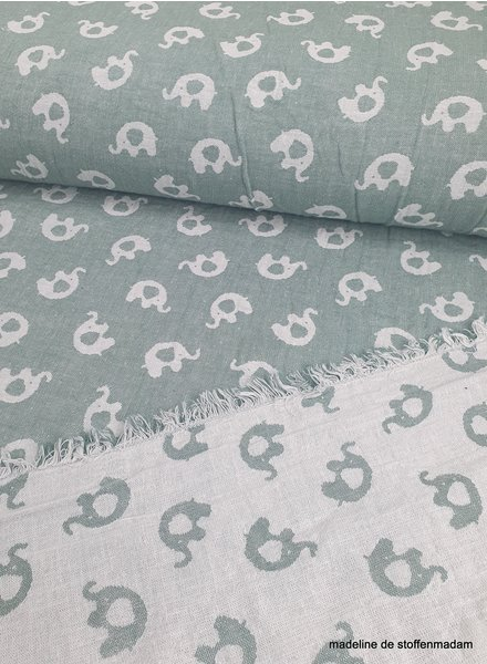 olifant mint jacquard double face