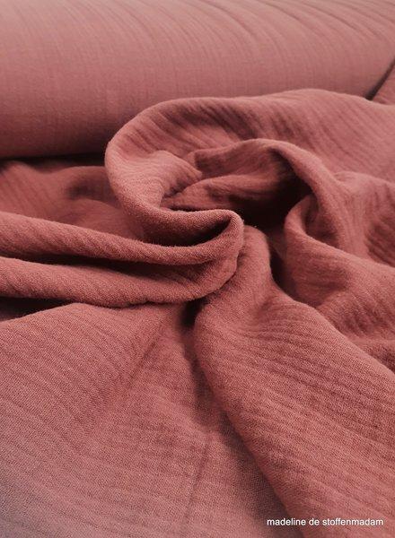 marsala -hydrophile/muslin fabric