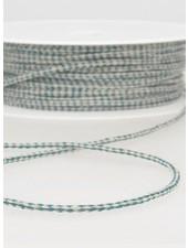 gespikkeld linnen touwtje 3 mm - petrol kleur 26