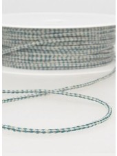 speckled linen rope 3 mm - petrol 26
