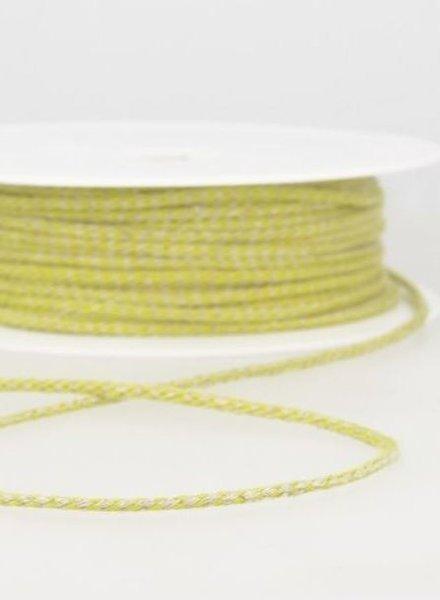 gespikkeld linnen touwtje 3 mm - geel 16