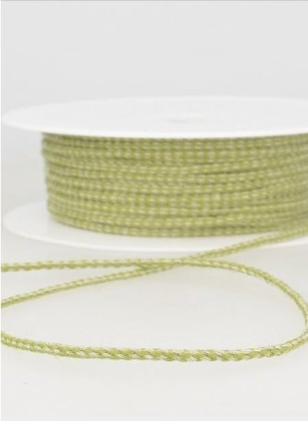 gespikkeld linnen touwtje 3 mm - groen kleur 63