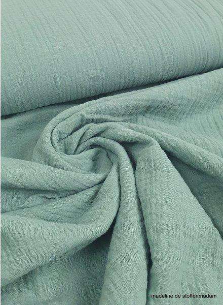 dark mint muslin fabric