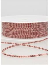 gespikkeld linnen touwtje 3 mm - bordeaux 71