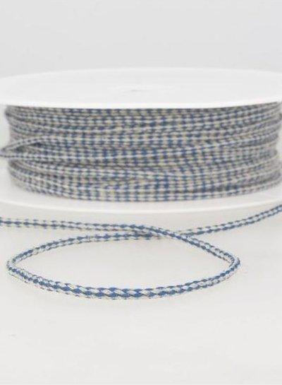 speckled linen rope 3 mm - cobalt 24