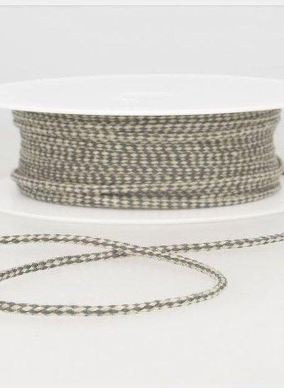 gespikkeld linnen touwtje 3 mm - grijs kleur 38