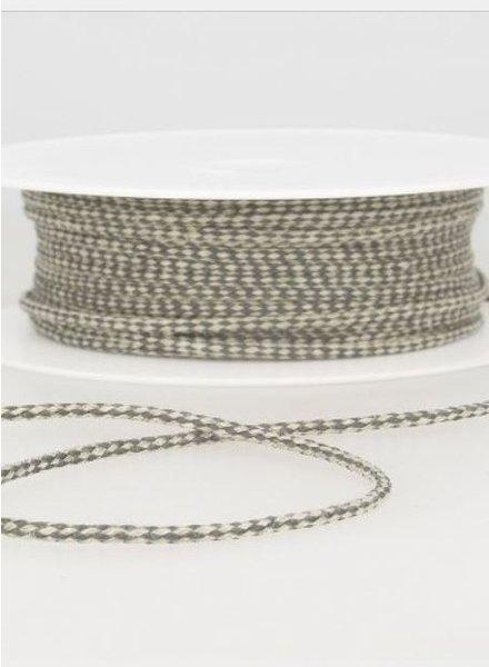 speckled linen rope 3 mm - grijs 38