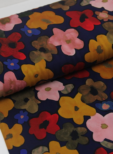 La Maison Victor Ursula jurk - gekleurde bloemen - viscose