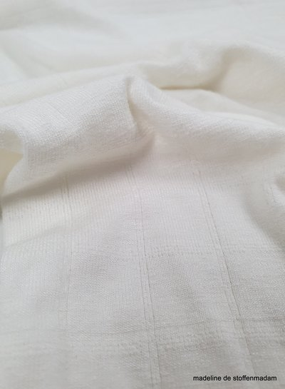 ecru fijne structuur tricot - broderie