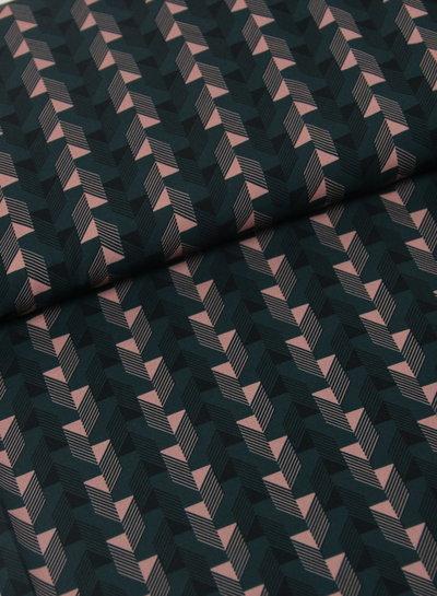 La Maison Victor green geometric print - polyester fabric