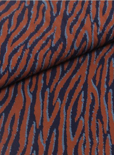 klassieke tijgerprint roest - viscose