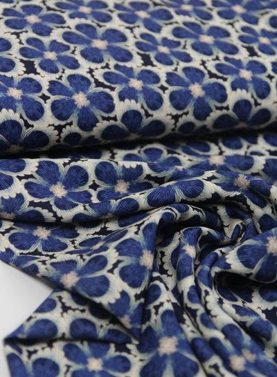 blauwe bloemen - crêpe