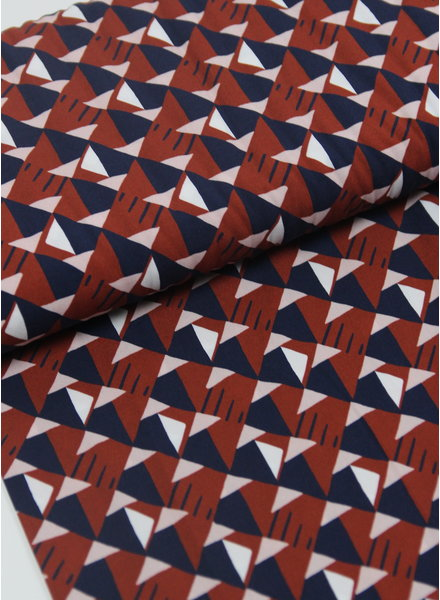 La Maison Victor rusty triangles - viscose